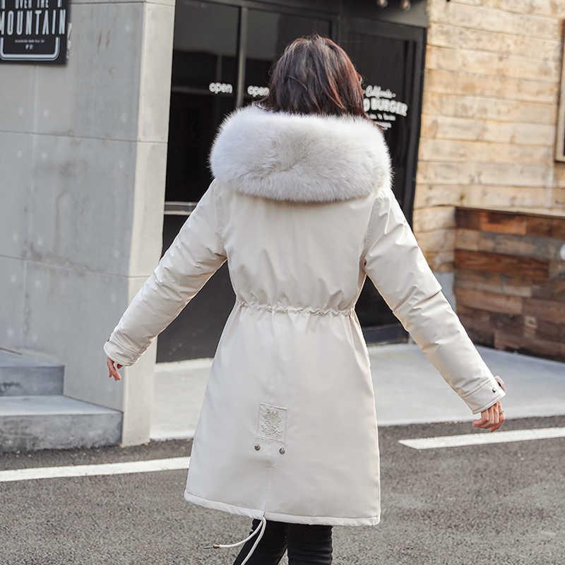 Parka gruesa, abrigo de invierno largo ajustado para mujer, abrigo de plumas de algodón para mujer, chaqueta de plumas, abrigo de invierno 2020 para mujer