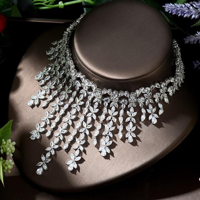 Ensemble de bijoux en zircone pour femmes, hybride de luxe, 2 pièces, accessoires de fête, dubaï Nigeria, CZ, ensemble de bijoux de mariage, N-1293