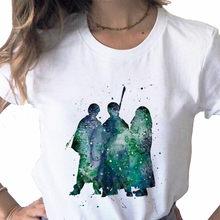 Эстетическое Винтаж Гарри Поттера-любителей Гарри Для женщин футболки для мамы, папы и 90s Lightning очки Графические футболки, Прямая поставка