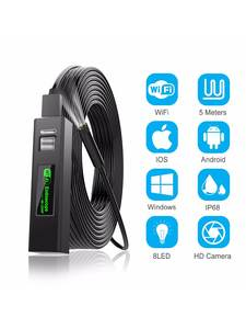 Endoscope Camera Snake-Cable Smartphone Rigid Samsung IOS MP HD for Android PC