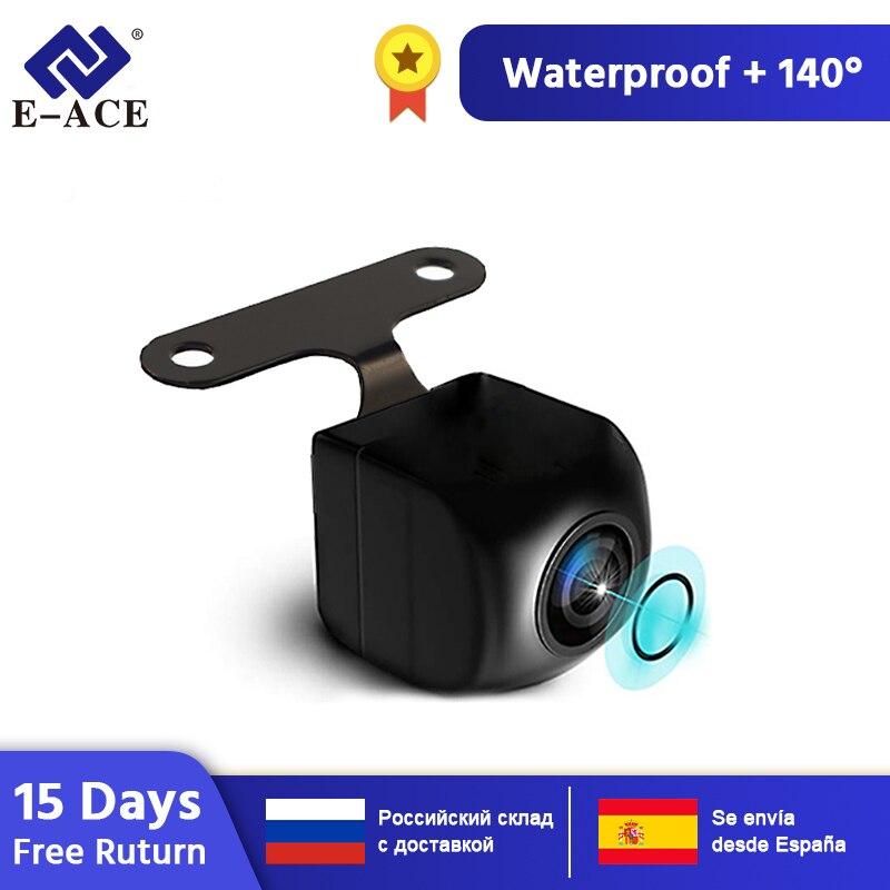 E-ACE 1080P HD водонепроницаемый цифровой сигнал 2,5 мм разъем камера заднего вида ночного видения с кабелем 6/10 м для 4G/3G двойной объектив Автомоби...
