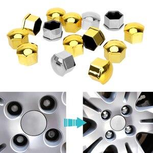 Image 4 - LEEPEE 20 шт. колпачки на Колесные гайки автомобиля болт диски специальный разъем Авто ступицы винт Защитная крышка 17 мм стайлинга автомобилей внешней отделки
