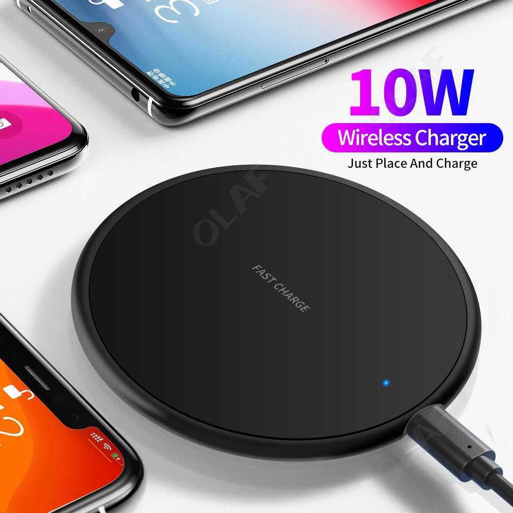 Olaf Wireless Charger สำหรับ Xiao Mi Mi Note 10 Wireless CHARGING Pad สำหรับ iPhone 11 PRO MAX X 8 PLUS samsung S10 S9 PLUS