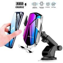 10W Drahtlose Auto Ladegerät Für Samsung S20 Ultra Plus Einfache Schnelle Smart Sensor Wirless Ladegerät Für iPhone 12 Mini 11 Pro XR XS MAX