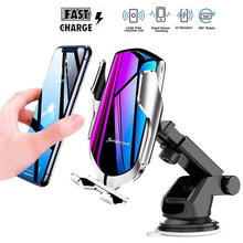 10W Wireless Car Charger For Samsung S20 Ultra Plus Simple Fast Smart Sensor Wirless Charger For iPhone 12 Mini 11 Pro XR XS MAX