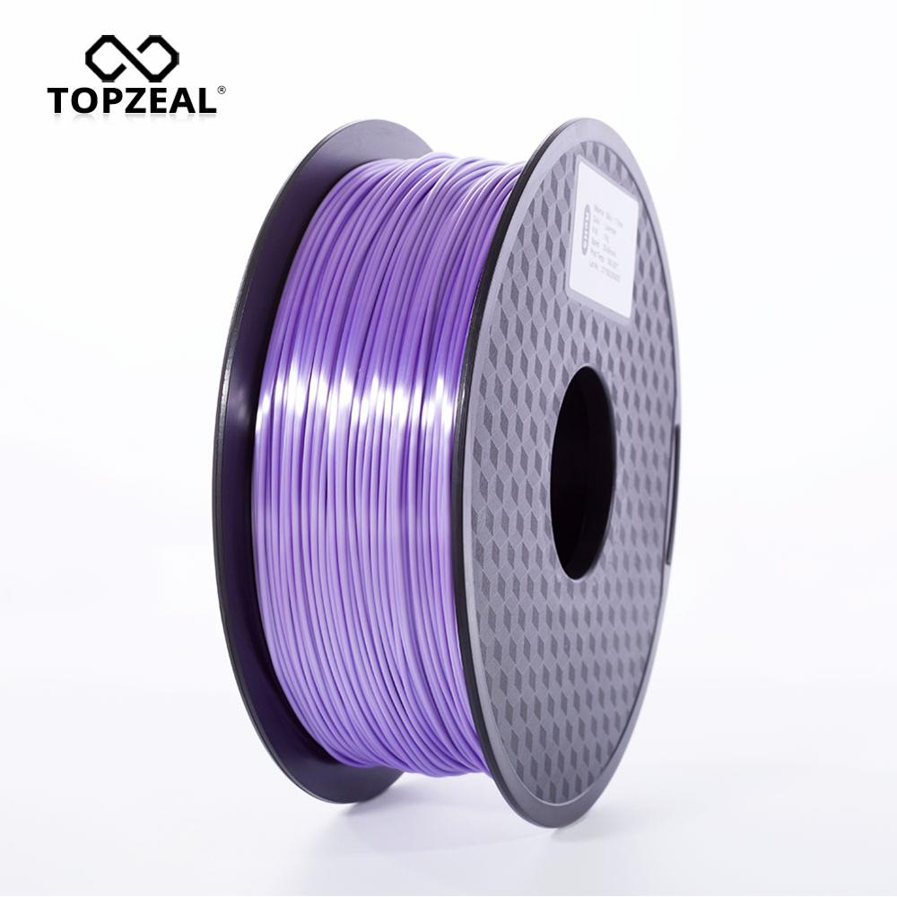 TOPZEAL High Quality Lavender Color PLA Silk 3D Printer Filament 1.75mm 1KG Silk Texture Feeling 3D Printing Material