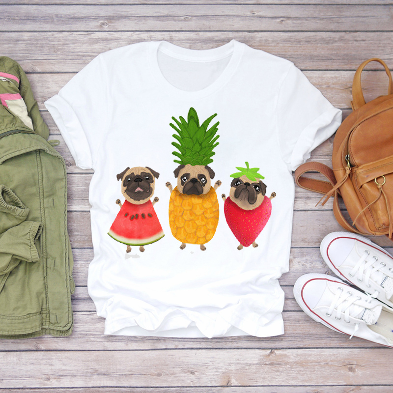 Women 2020 Summer T-shirts Pineapple Watercolor Fruit Cute Lady T-shirts Top T Shirt Ladies Womens Graphic Female Tee T-Shirts 4