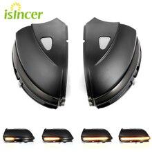 Indicador de espelho retrovisor dinâmico, 2 peças, led, indicador para vw passat cc b7, beetle, scirocco, jetta mk6, asa lateral dinâmico luz de seta, sinal de luz