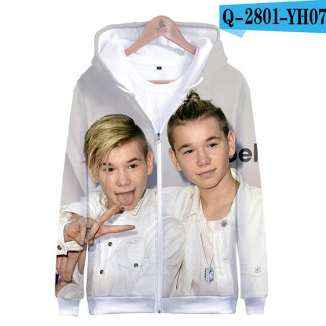 3 To 14 Years Kids Hoodie Marcus and Martinus 3D Hoodies Sweatshirt Boys Girls Fashion Harajuku Jacket Coat Children Clothes 22