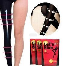 Lets Slim กางเกงขาสั้นเอว Slimming Pantyhose เท้า Care เครื่องมือการบีบอัดถุงน่องสำหรับผู้หญิง FAT Burning Slimming ควบคุมรูปร่างขา