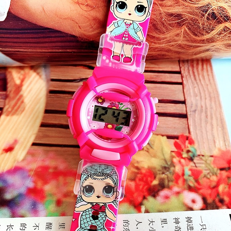 2019 New Cute Children Cartoon Surprise Doll Silicone Watch Sports Watch Electronic Watch Girls Leisure Primary School Watch