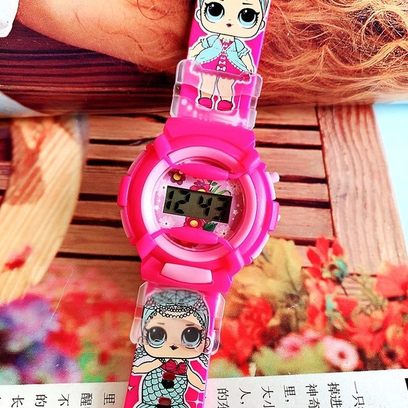 2019 New Cute Children Cartoon Surprise Doll Silicone Watch Sports Watch Electronic Watch Girls Leisure Primary School Watch