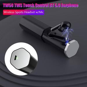 Image 5 - TW50 auriculares TWS, inalámbricos por bluetooth 5,0, auriculares estéreo rosas táctiles de llamada Bilateral con caja de carga