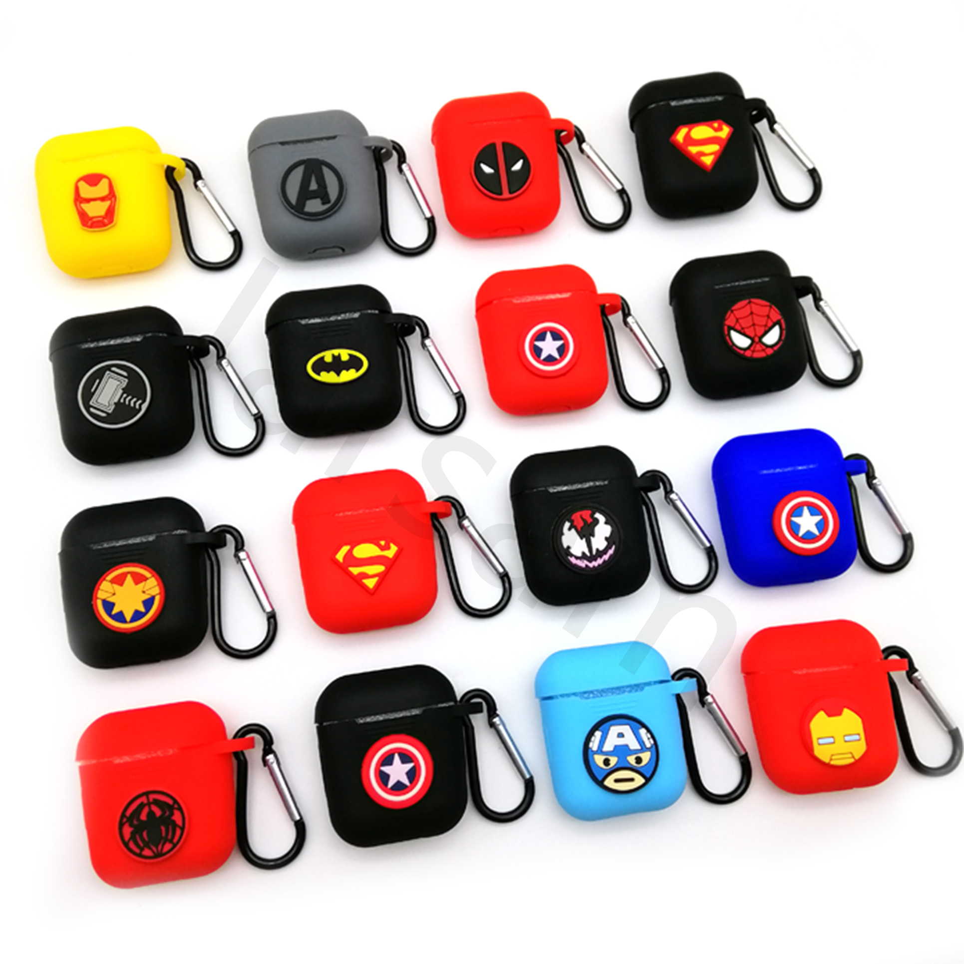 Hero Cartoon Wireless Bluetooth Case For Apple AirPods Silicone Charging Headphones Cases For Airpods 2 Protective Cover