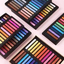 36/48 cores arte desenho cor lápis conjunto giz desenho coloração suprimentos de arte macio seco pastel artista estudante grafite suprimentos