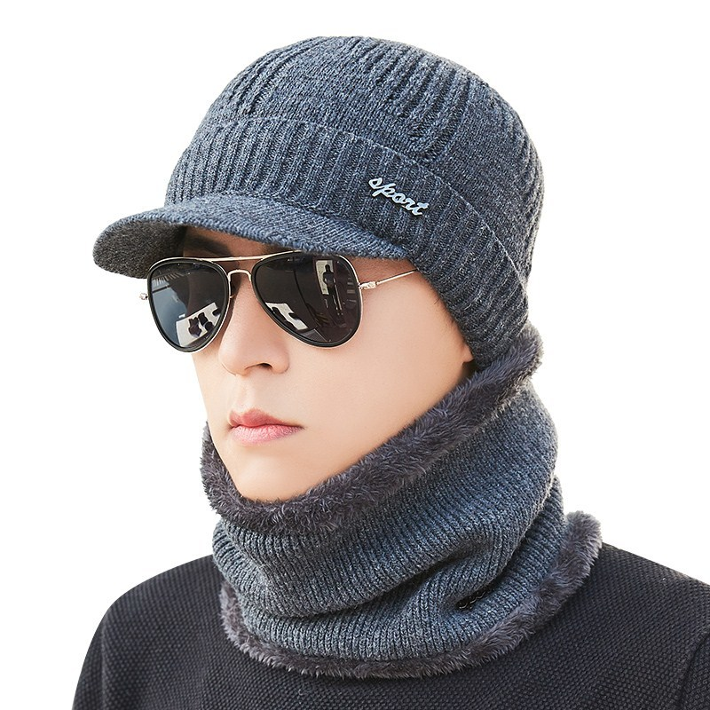 2019 New Winter Skullies Beanies For Men Women Wool Scarf Caps Balaclava Mask Gorras Bonnet Knitted Hat For Adult