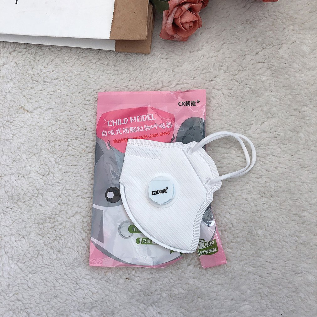 Kn95 Mask With Valve Dust-Proof Anti-Fog 4-Layer Child Protective Mask 1 Piece