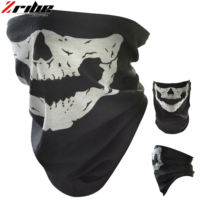 new style motorcycle skull ghost face windproof mask outdoor sports warm ski caps bicycle bike balaclavas scarf skull face mask