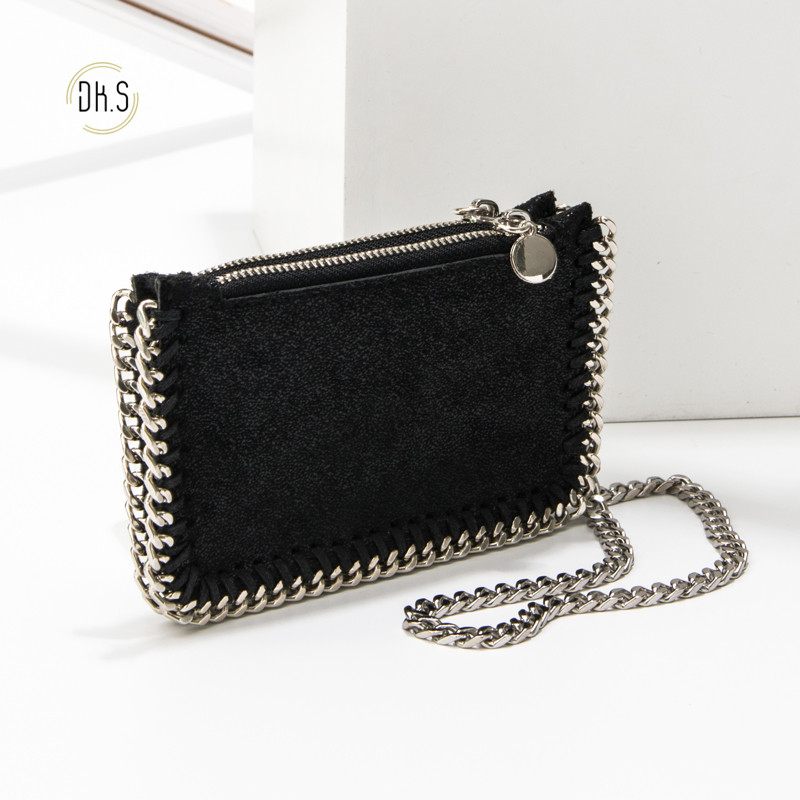 New Arrival Wallet Short Women Wallets Zipper Clutch Purse Chain Fashion Famous Brand Change Bag Trendy Coin Purses Wrist bag image
