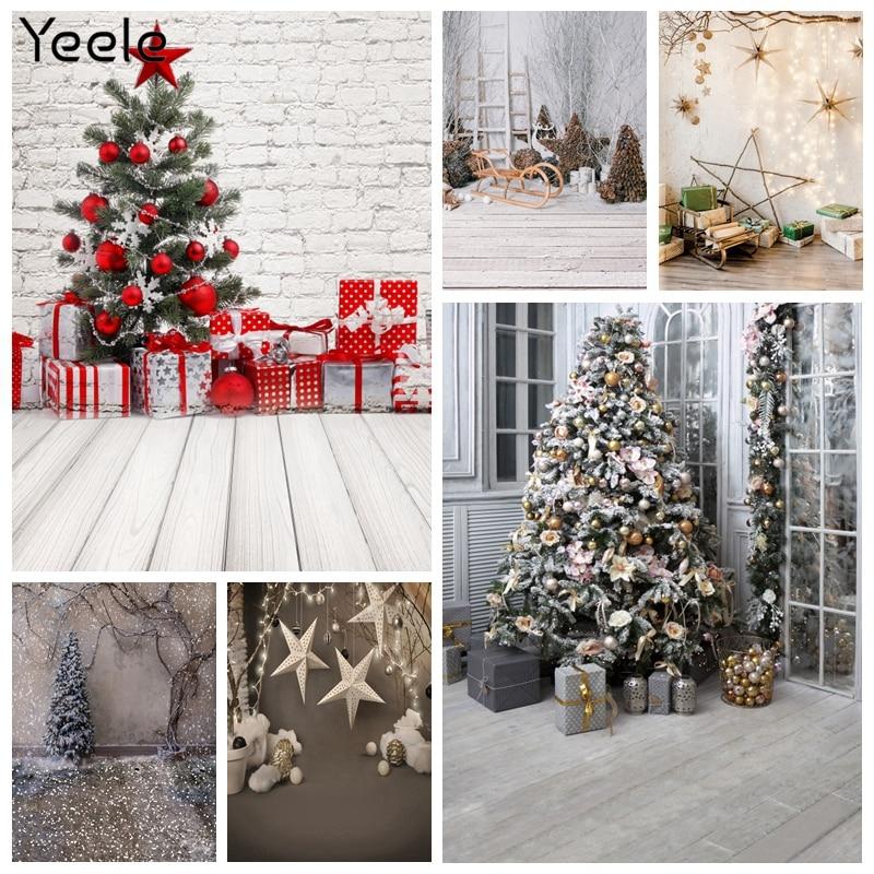 Yeele Winter Snow Portrait Christmas Backdrop For Photography Snowflake Background Baby Photo Studio Tree Photocall Photograpic