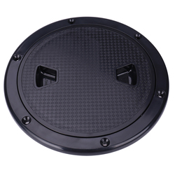 4inch Non-Slip Deck Plate Access Boat Inspection Hatch Cover, for Marine Boating/ Water Sport- Corrosion/UV Resistant