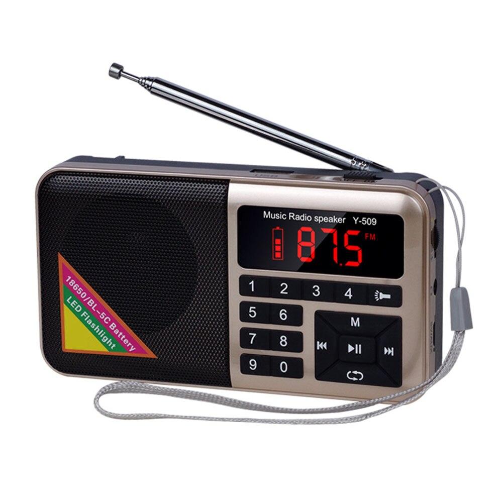 Portable Radio for Elder Multi Functional Media Speaker MP3 Music Player EM88