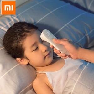 Image 1 - شاومي iHealth ميزان الحرارة الدقيق الرقمي حمى الأشعة تحت الحمراء السريرية ميزان الحرارة عدم الاتصال قياس LED هو مبين