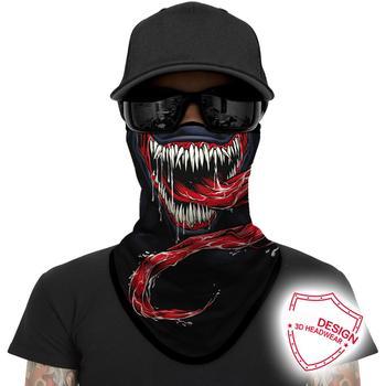 3D Motorcycle Face Masks Triangle Scarf Comics Movie Bandana Headband Halloween Mask Venom Neck Buffs Windproof Face Shield Mask 1