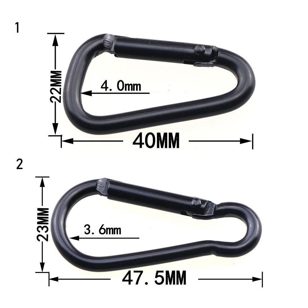 Carabiner Karabina Snap Spring Hook 2 @ 4mm x 40mm Zinc