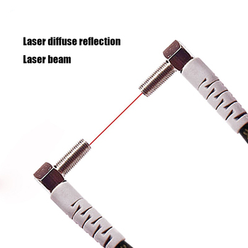 цена на M4 M6 1-100MM Laser Photoelectric switch Sensor Diffuse reflection Laser range sensor