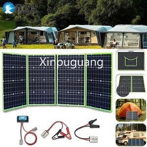 Гибкая Складная солнечная панель 200 Вт + контроллер 12 В, зарядное устройство, портативный внешний аккумулятор для автомобиля, лодки, кемпинг...