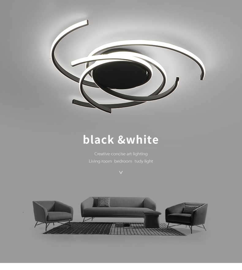 H3b420a277e2545968dd80bf0fcd01ad1R Creative modern led ceiling lights living room bedroom study balcony indoor lighting black white aluminum ceiling lamp fixture