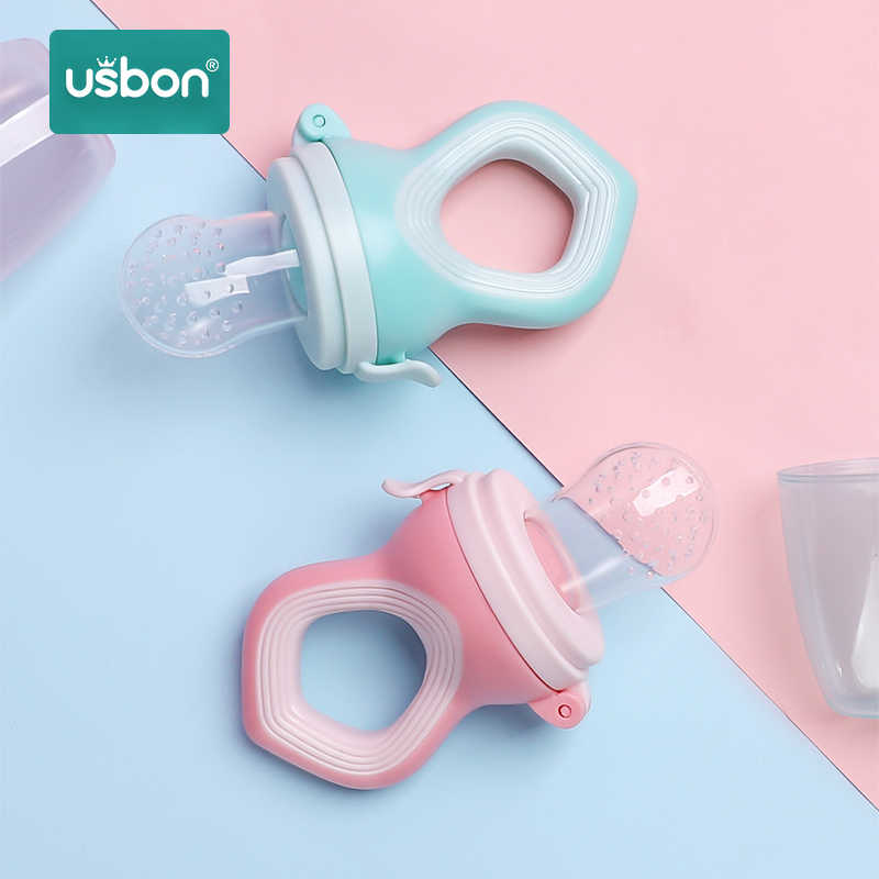 Usbon Baby Pacifier Fresh Food Feeder Nipple Soother Toddler Kids Fruits Silicone Supplies Teat Pacifier Bottles Safe Feeding