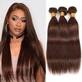 Эффектом деграде (переход от темного к бразильские пучки прямых и волнистых волос 2 тон фиолетового цвета прямые человеческие волосы #2 #4 Brpwn ...