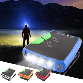 アウトドアフィッシングハイキング USB 充電式 LED キャンプクリップオンキャップ帽子ライトヘッドランプ釣りツール新シックな