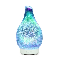 3D Firework Glass Vase Shape Air Humidifier with LED Night Light Aroma Essential Oil Diffuser Mist Maker Ultrasonic Humidifier|Humidifiers| |  -