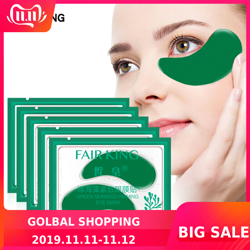 5pair/lot Green Seaweed Firming Eye Mask Eye Patches For The Eyes Crystal Green Masks Anti Dark Circle Eyelid Patch New Hotest
