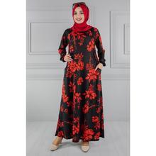 Pockets Decorated Hijab Dress Fz2012Sh49-Fz2012Sh49