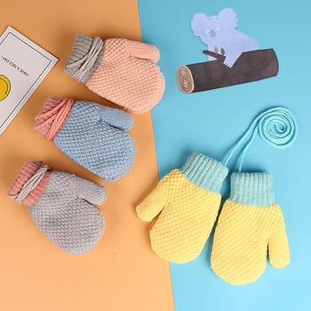 2-6 lat zimowe ciepłe dziecięce rękawiczki męskie i damskie dziecięce dziecięce dziecięce rękawiczki dziecięce oraz aksamitne akcesoria tanie i dobre opinie COTTON CF4177 14* 6 5cm Stałe Unisex
