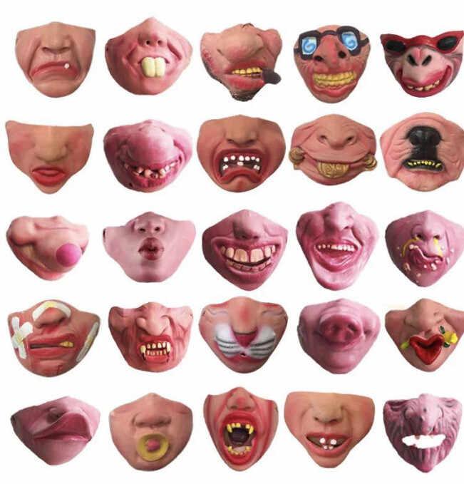 Divertente Divertimento Maschera Grandi Labbra Copricapo Pet Divertente Maschera Maschere di Halloween Per Adulti Mascara de terrore para di halloween @ 45
