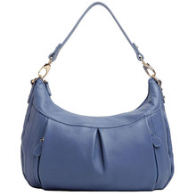 Vento Marea Genuine Leather Women Handbags Casual Ladies Blue Hobo Shoulder Bags Fashion Solid Female Cross Body Purses Quality