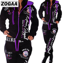ZOGAA Fashion Tracksuit For Women Womens Casual Sportwear Hooded Sweatshirt and Pants Womens Suit women two piece outfits