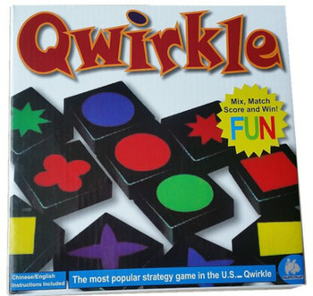Novelty Educational Toys Qwirkle Wooden Chess Parent-child Interactive Games Toys For Kids And Adults image