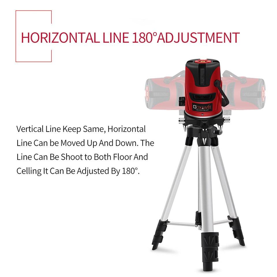 GOXAWEE лазерный уровень 360 градусов Горизонтальные и вертикальные измерительные приборы 5 линий 6 точек самонивелирующийся строительный инст...
