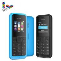 사용 된 잠금 해제 노키아 105 단일 및 듀얼 Sim 버전 전화 GSM 지원 히브리어 아랍어 러시아어 키보드 휴대 전화