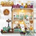 Bebê diy casa de bonecas brinquedos floresta família villa piano música miniatura casa de bonecas presentes aniversário critters boneca villa para o produto da menina
