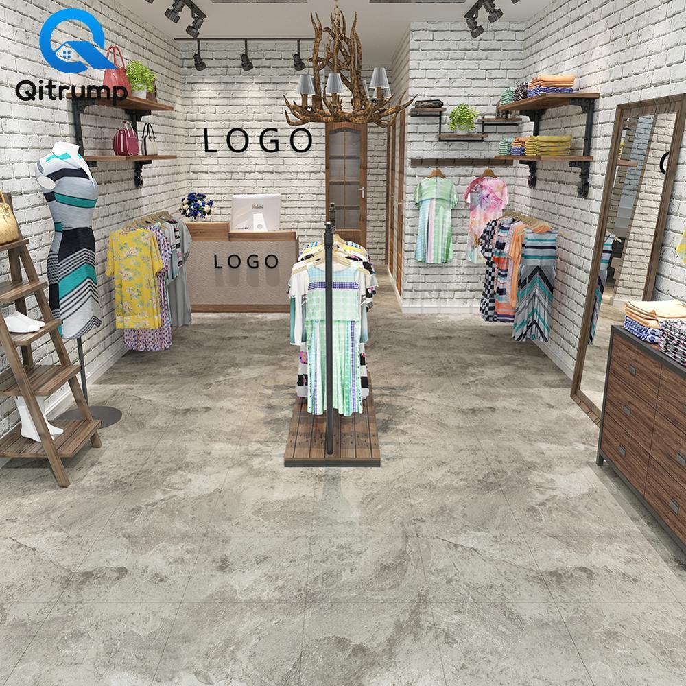 Flooring Tiles Sticker Wear-resistant Non-slip Waterproof Floor Decals Self Adhesive Marble Wallpapers Living Room Ground Decor