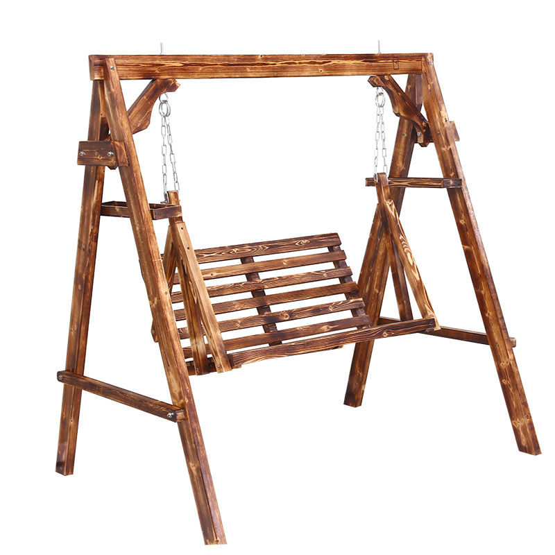 Solid Wood Rocking Chair Swing Hanging Chair Outdoor Balcony Household Rocking Chair Indoor Rotten Wood Network Celebrity