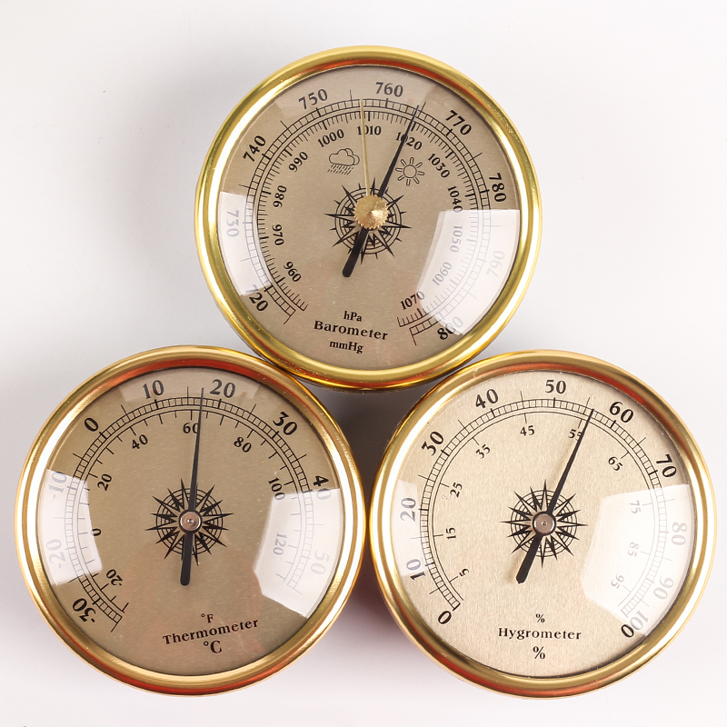 New Quality Finish Dial Traditional Weather Station Barometer Hygrometer Temperature
