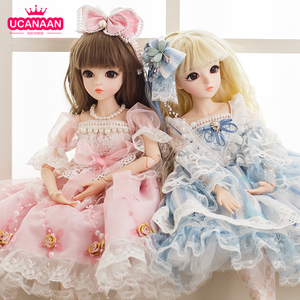 UCanaan BJD Doll 60CM 1/3 Ball Joints Dolls 12 Styles With Full Outfits Dress Wig Shoes Makeup Gift For Girls Collection Toys(China)